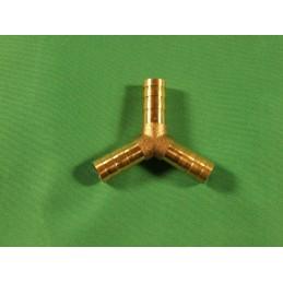 Y splitter, 10mm, brass